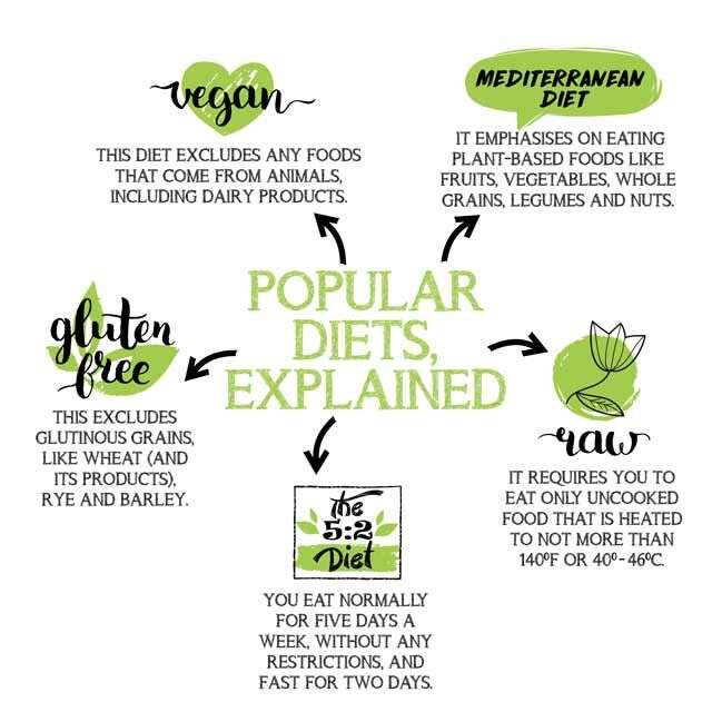 diet food infographic