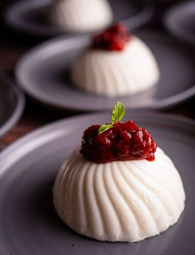 Yoghurt panna cotta with berry compote.jpg