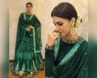 Resplendent in green: B-town style files