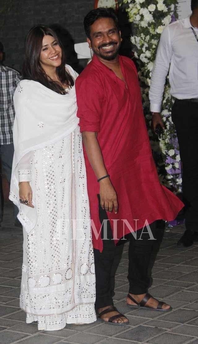 Ekta Kapoor and Mushtaq Sheikh