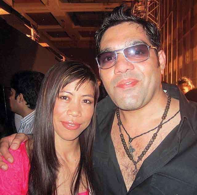 Savio John Pereira celebrity hair stylist with mary kom
