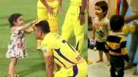 See these cute Taimur Ali Khan and Ziva Dhoni videos