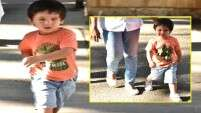 Taimur Ali Khan greets the shutterbugs with a smile