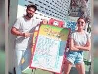 Anushka Sharma and Virat Kohli enjoy a meal together in Guyana
