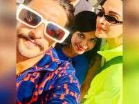 Ranveer Singh and Deepika Padukone snapped with a fan in London!