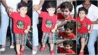 Taimur Ali Khan in no mood to smile for paparazzi!