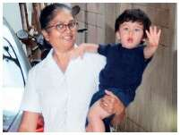 Taimur plays with mommy Kareena Kapoor Khan on the sets