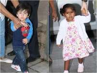 Taimur Ali Khan and others at Rannvijay Singha's daughter's party