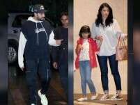 Dinner outing: Abhishek, Aaradhya and Aishwarya Rai Bachchan
