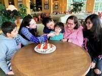 Taimur Ali Khan enjoys Karisma Kapoor's birthday cake