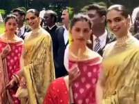 Deepika Padukone channels old-world charm in a gold sari
