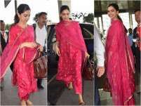 Deepika Padukone stuns in a traditional pink outfit