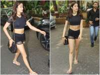 Janhvi Kapoor steps out of the gym in black
