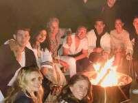 Priyanka Chopra and Nick Jonas enjoy a bonfire by the beach