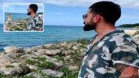 #Virushka fan edits Virat Kohli's beach photos