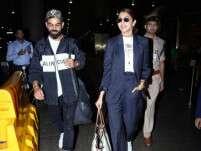 Anushka Sharma and Virat Kohli papped at the airport