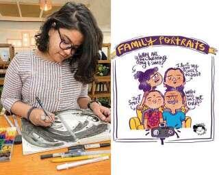 Mounica Tata: Through a comic lens