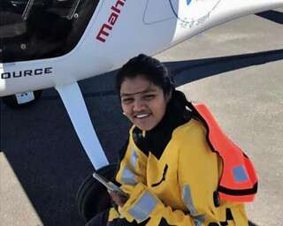 Mumbai girl creates record flying solo over Atlantic and Pacific Oceans