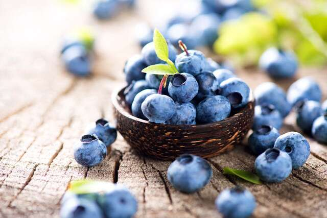 Blueberries to make your nails stronger