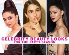 Celeb beauty looks for the party season