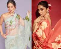 Celebrity-Approved Floral Sari Trend For Your BFF's Sangeet