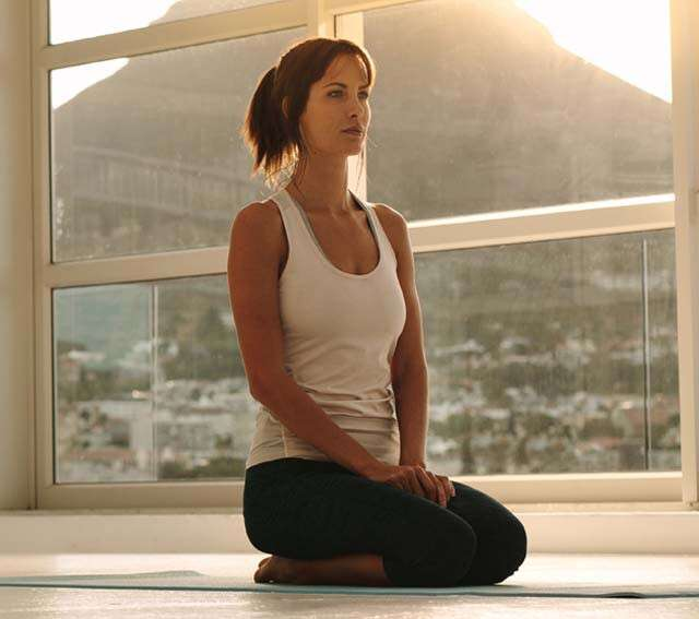 Vajrasana keeps the mind calm and meditative