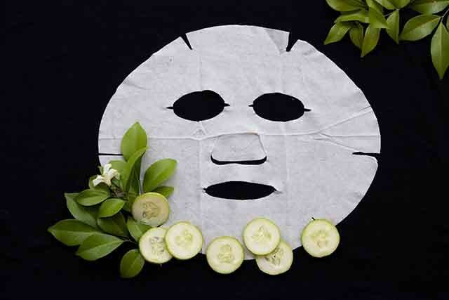 Anti-ageing cucumber lemon mint mask