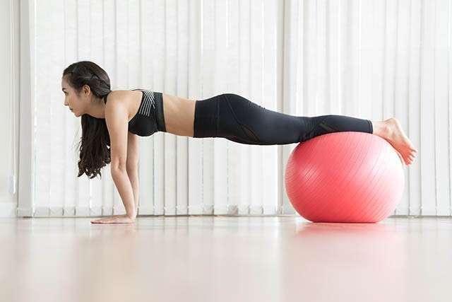 Ball Bridge - How to Reduce Thigh Fat