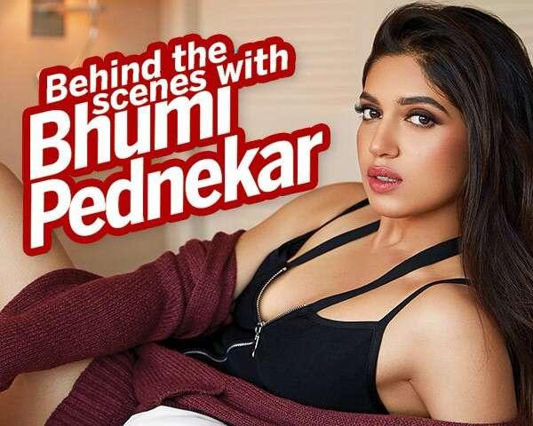 Bhumi Pednekar ups the glam in this BTS