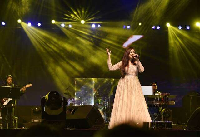 Shreya Ghoshal performs at .FEST
