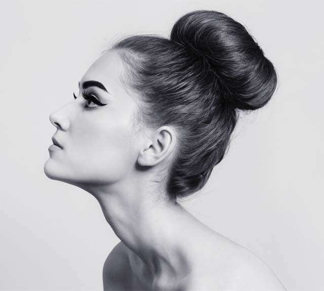 Hairstyles for Straight Hair - Chignon