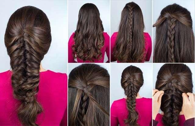 Hairstyles for Straight Hair - Mermaid Braid