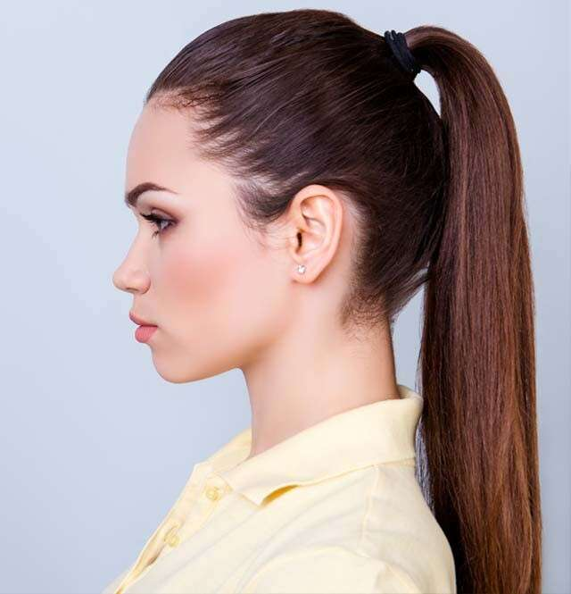 Hairstyles for Straight Hair - Sleek Ponytail