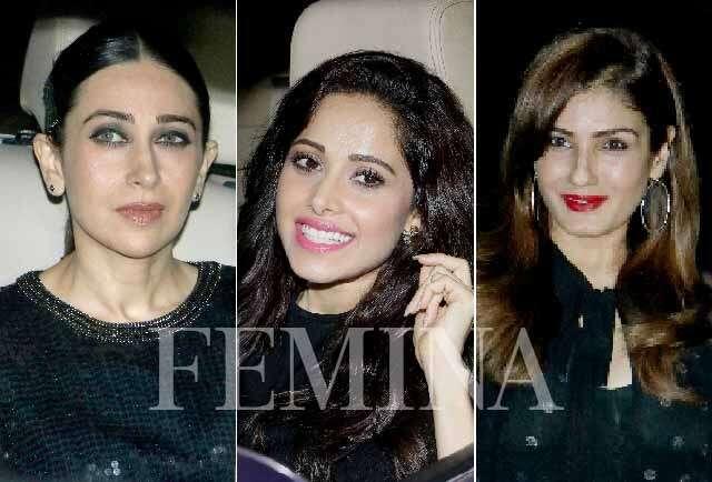 Karisma Kapoor, Nusrat Bharucha, Raveena Tandon