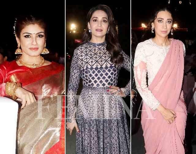 Raveena Tandon, Madhuri Dixit-Nene, Karisma Kapoor