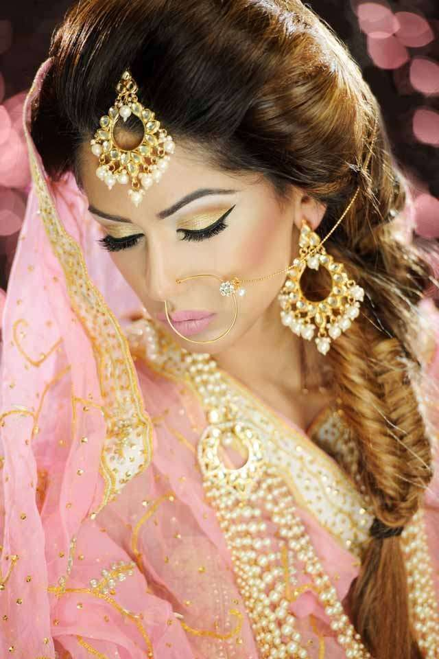 Right Indian Wedding Hairstyle like Fishtail braid