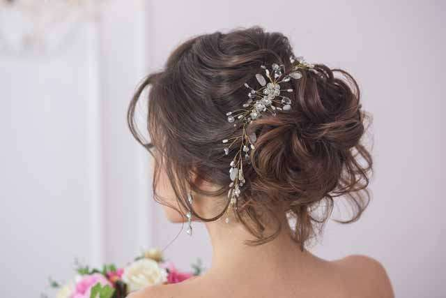 Right Indian Wedding Hairstyle like Sleek Bun with Adornments