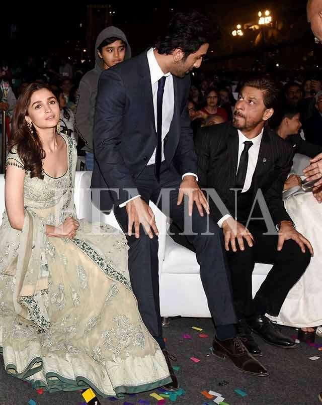 Shah Rukh Khan, Alia Bhatt and Ranbir Kapoor