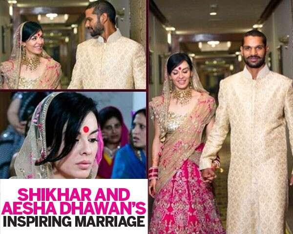Shikhar and Aesha Dhawan's inspiring marriage