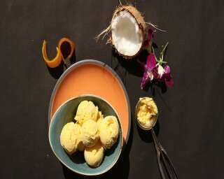 Vegan Coconut Mango Ice Cream