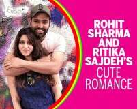 Rohit Sharma and Ritika Sajdeh's cute romance