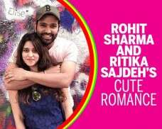 Rohit Sharma and Ritika Sajdeh's cute romance