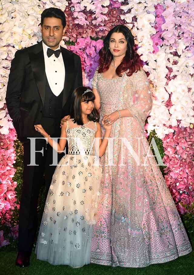 Abhishek and Aishwarya Rai Bachchan with Aaradhya