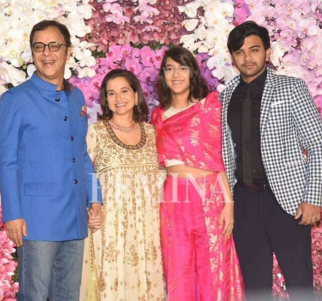 Anupama and Vidhu Vinod Chopra with their children AMBANI WEDDING