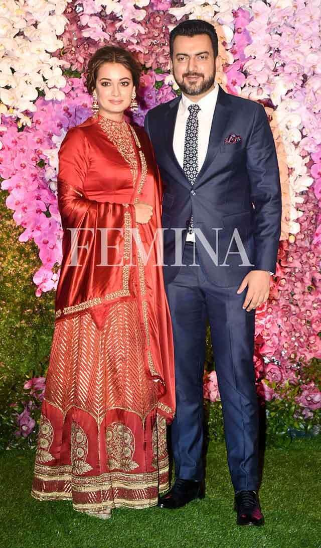 DDiya Mirza with husband Sahil Sangha