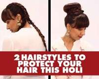 2 hairstyles to protect your hair this Holi