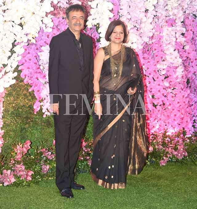 Rajkumar Hirani with wife Manjeet Hirani