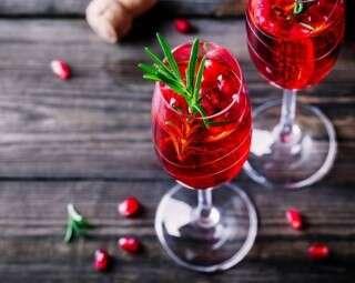 Easy mocktail recipe: Virgin cranberry & pomegranate bellini