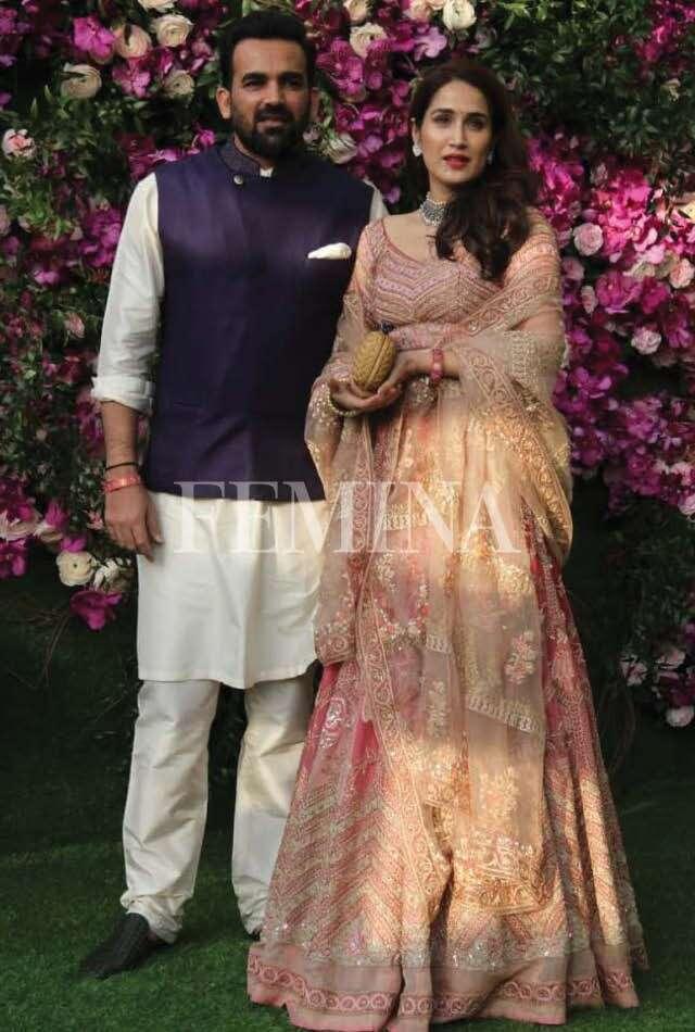 Cricketer Zaheer Khan with wife, actor Sagarika Ghatge