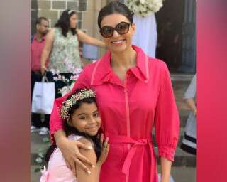Daughter's essay on adoption moves Sushmita Sen to tears